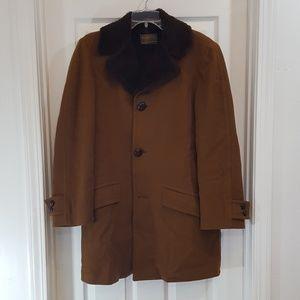 Pendleton Wool Long Coat Faux Fur